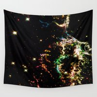 cosmic Wall Tapestries featuring Cosmic by 2sweet4words Designs