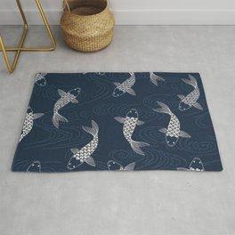 Koi carp, fish textile pattern Rug