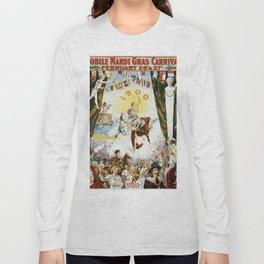 Vintage poster - Mobile Mardi Gras Long Sleeve T-shirt