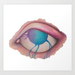 all just eyes Va Art Print