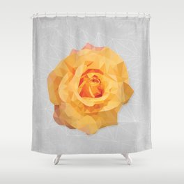 Amber Poly Rose Shower Curtain