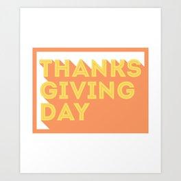 Happy Thanksgiving Day Design Art Print