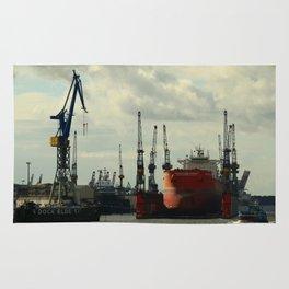 Ship In Dry Dock Rug