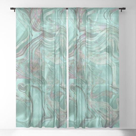 Mint Gem Green Marble Swirl by followmeinstead