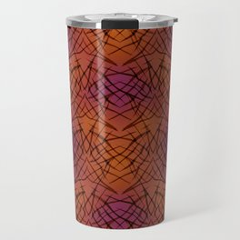 Brown red pattern . Travel Mug