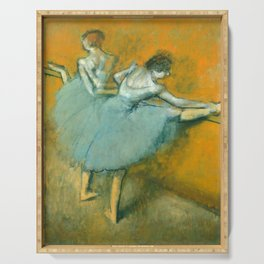 Degas Painting - Dancers at the Barre, 1900 Serving Tray