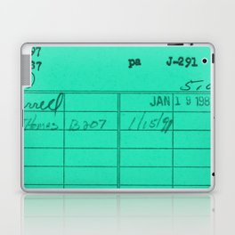 Library Card 797 Turquoise Laptop & iPad Skin