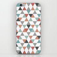 hexagon iPhone & iPod Skins featuring Hexagon by Pavel Saksin