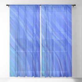 stripes wave pattern 1 c80v Sheer Curtain