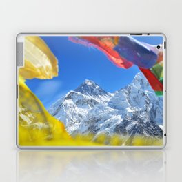 Summit of mount Everest or Chomolungma - highest mountain in the world, view from Kala Patthar,Nepal Laptop & iPad Skin