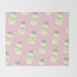 Banana Milk Throw Blanket