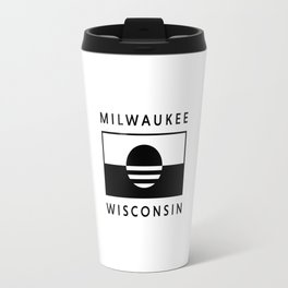 Milwaukee Wisconsin - White - People's Flag of Milwaukee Travel Mug