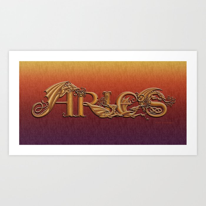 Dracoserific Aries Art Print