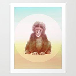 SAVE THE BONOBO Art Print