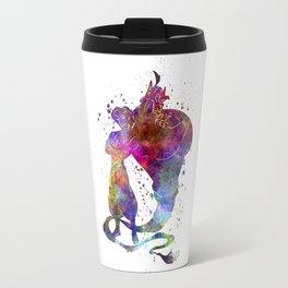 Aladin and te genious watercolor art Travel Mug