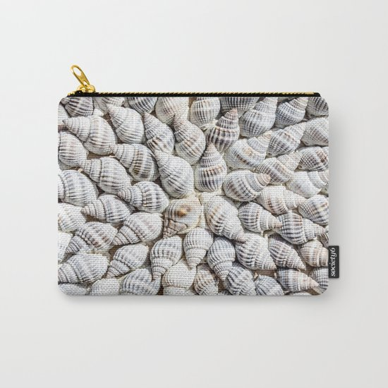 White Seashells Pattern Carry-All Pouch