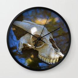 Goat Skull Wall Clock