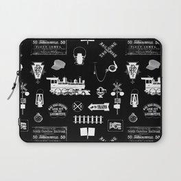 Railroad Symbols on Black Laptop Sleeve