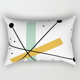 Retro Minimalist Mid Century Modern Pattern Design Rectangular Pillow