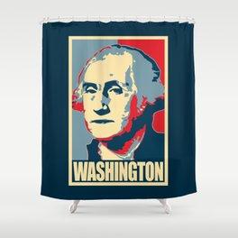 George Washington Propaganda Pop Art Shower Curtain