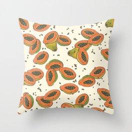 papaya pattern Throw Pillow