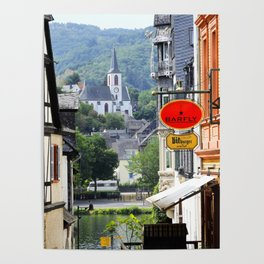 Trarbach as seen from Traben Poster