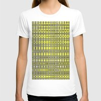 yellow pattern T-shirts featuring Yellow fractal pattern. by Assiyam