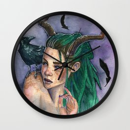 Queen of Crows Wall Clock