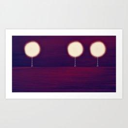 Lighted Trees Art Print