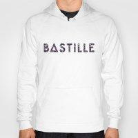 bastille Hoodies featuring Bastille Flower Logo by marinasdiamonds