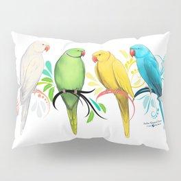 Indian Ringneck Parrots Pillow Sham