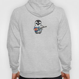 Baby Penguin Playing Colorado Flag Guitar Hoody