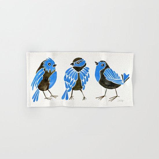 Blue Finches Hand & Bath Towel