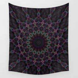 Branching Rainbow Fractal Kaleidoscope Wall Tapestry