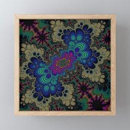 Peacock Fractal Framed Mini Art Print