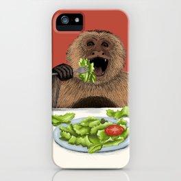 Dieting Monkeys iPhone Case