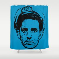 literature Shower Curtains featuring Outlaws of Literature (Jack Kerouac) by Silvio Ledbetter