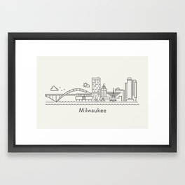 Milwaukee Framed Art Print