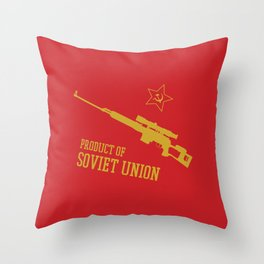 Dragunov SVD (Product of SOVIET UNION) Throw Pillow