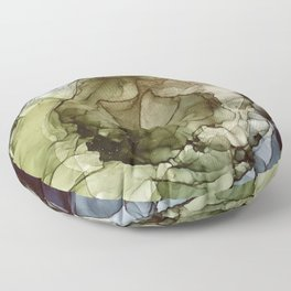 Calm Nature- Earth Inspired Abstract Painting Floor Pillow