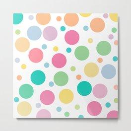 bulles de couleur Metal Print