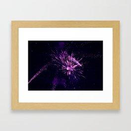 Fireworks purple Framed Art Print
