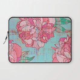 Pink roses, floral print in pastels Laptop Sleeve