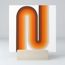 70's Geometric Design Print Mini Art Print