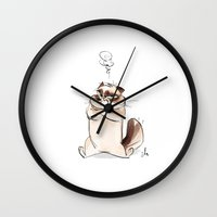 grumpy Wall Clocks featuring Grumpy by nachodraws