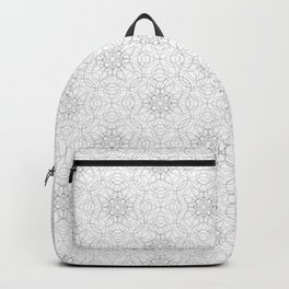 delicate lace - grey on white Backpack