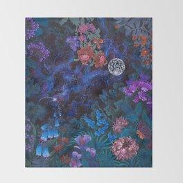 Space Garden Throw Blanket