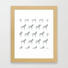 Donkeys all around Framed Art Print