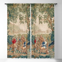Verdure 18th Century French Tapestry Print Blackout Curtain
