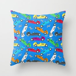 Jack's Vintage Race Cars - Indy 500 Throw Pillow